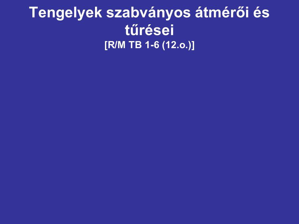 Tengelyek szabványos átmérői és tűrései [R/M TB 1-6 (12.o.)]